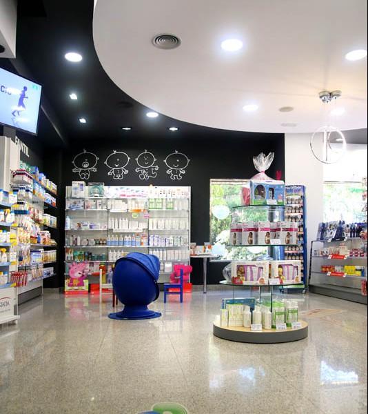 Detalle de la zona de confort de Farmacia Faba