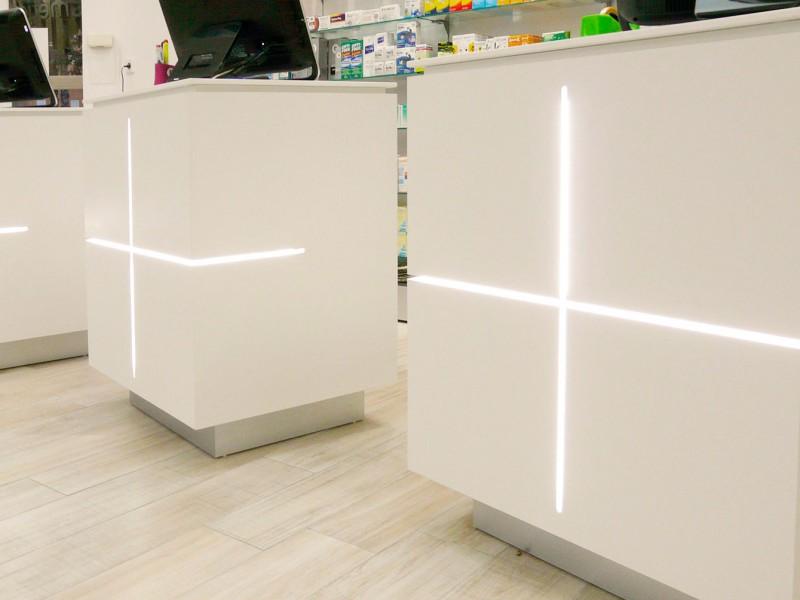 Mostradores farmacia COR mobiliario